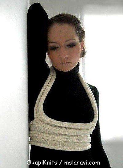 Оригинальные вязаные украшения для одежды