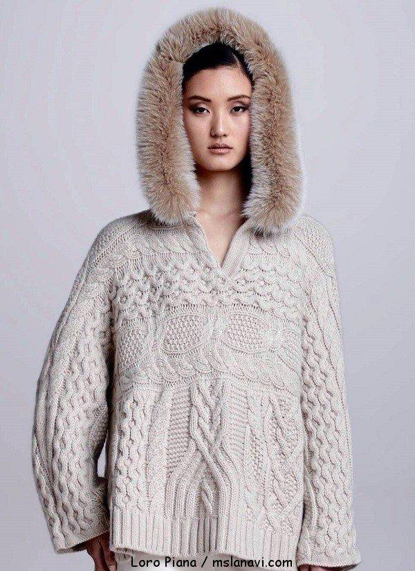 Женский кашемировый свитер от Loro Piana