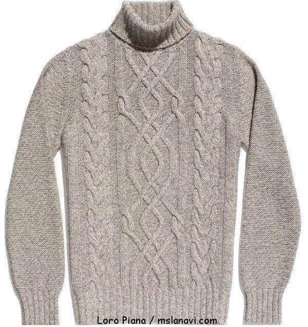 Мужской свитер с аранами от