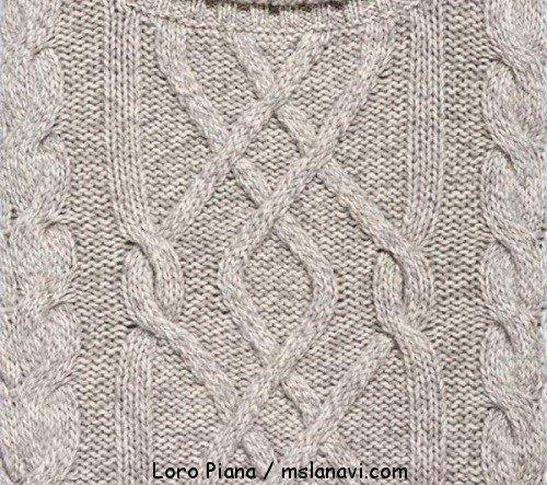 Мужской свитер с аранами от Loro Piana
