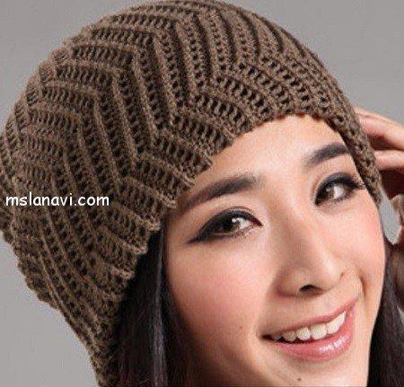 Модные шапочки связанные спицами