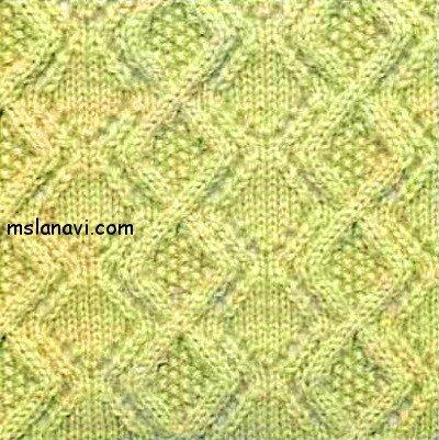 Рельефный узор спицами 117