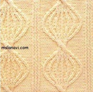 вязание спицами рельефный узор схема