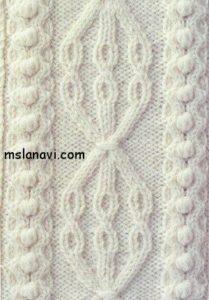 рельефный узор для вязания спицами
