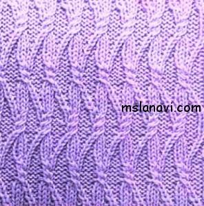 Рельефный узор спицами №120