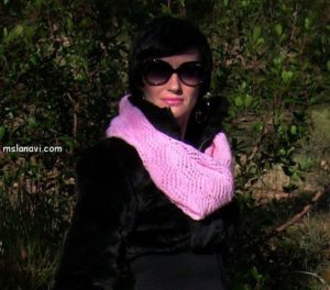 как связать ажурный шарф спицами