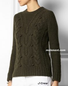 Вязаный свитер с аранами от J Crew