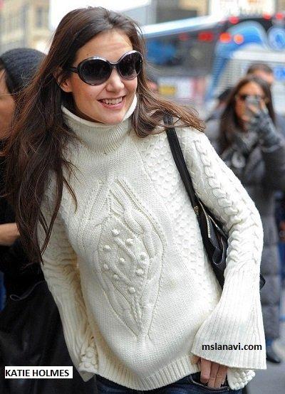 схема к вязаному женскому бежевому пуловеру и жилету из красивых