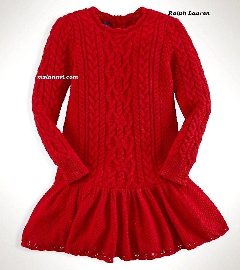 rрасивые вязаные платья для девочек - Самое интересное в ...