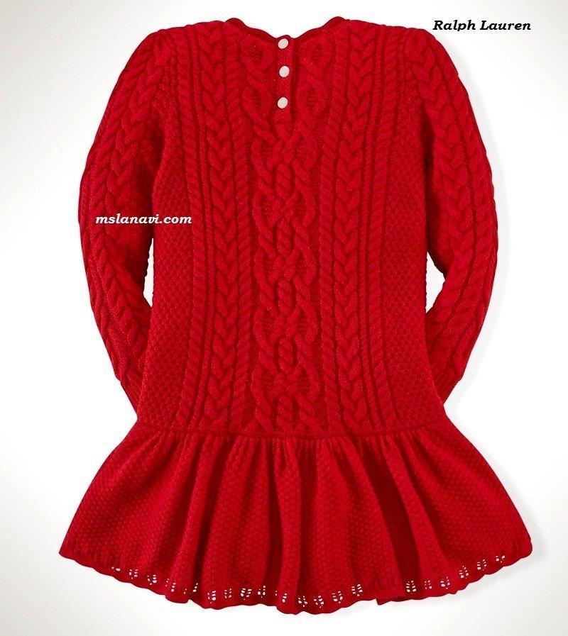 Красивые вязаные платья для девочек | Вяжем с Лана Ви