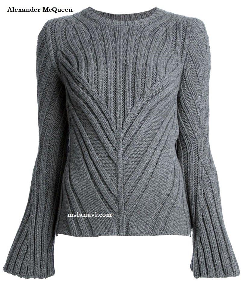 Пуловер резинкой от Alexander McQueen