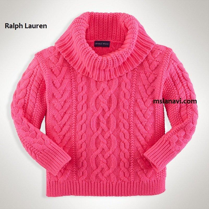 Детский свитер спицами от