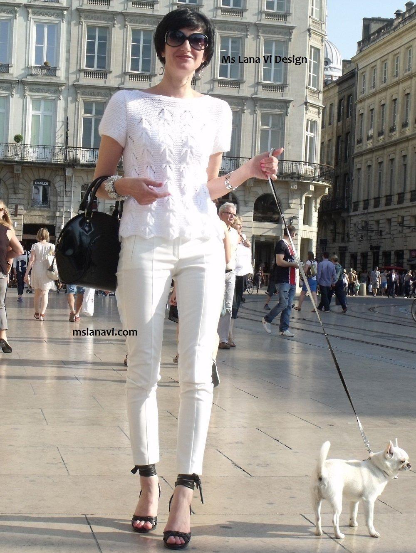Ms Lana Vi Design - Летняя кофточка спицами с описанием