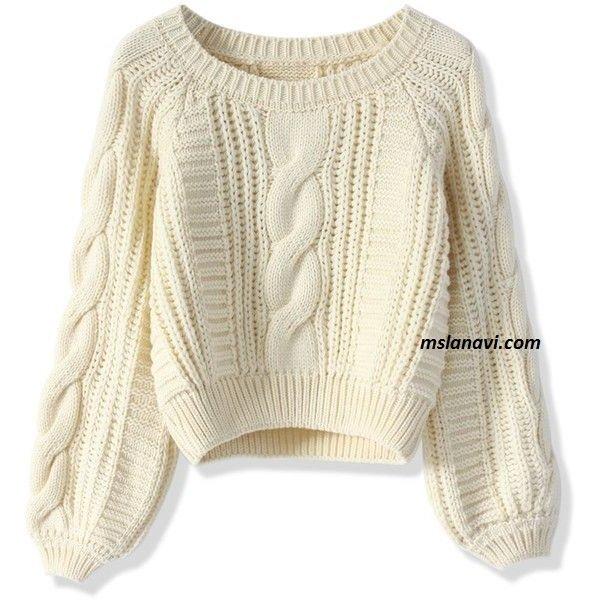 Вязание свитера узорами на спицах 87