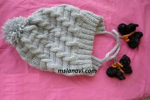 Шапочка узор вязания