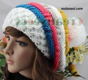 шапки береты вяжем с лана ви