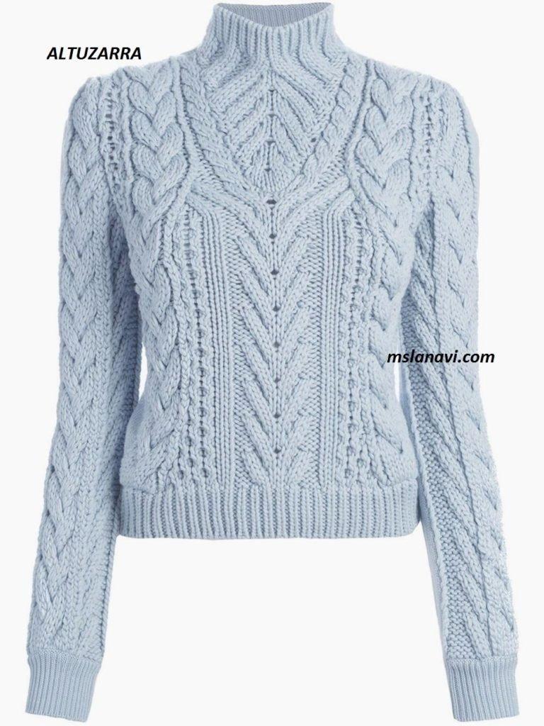 вязаное свитер-платье схема описание