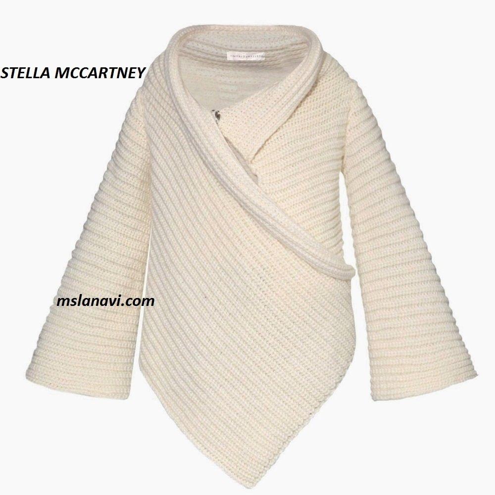 Модель кардигана спицами от STELLA MCCARTNEY