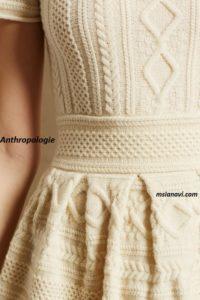 вязаное платье спицами для женщин схемы