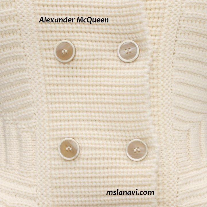 Mодный вязаный жакет спицами от Alexander McQueen