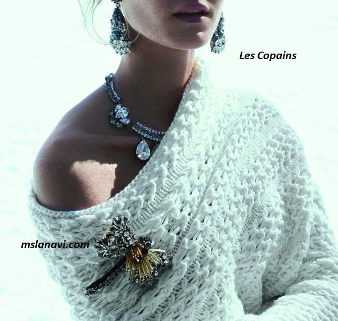 Модные вязаные модели от Les Copains