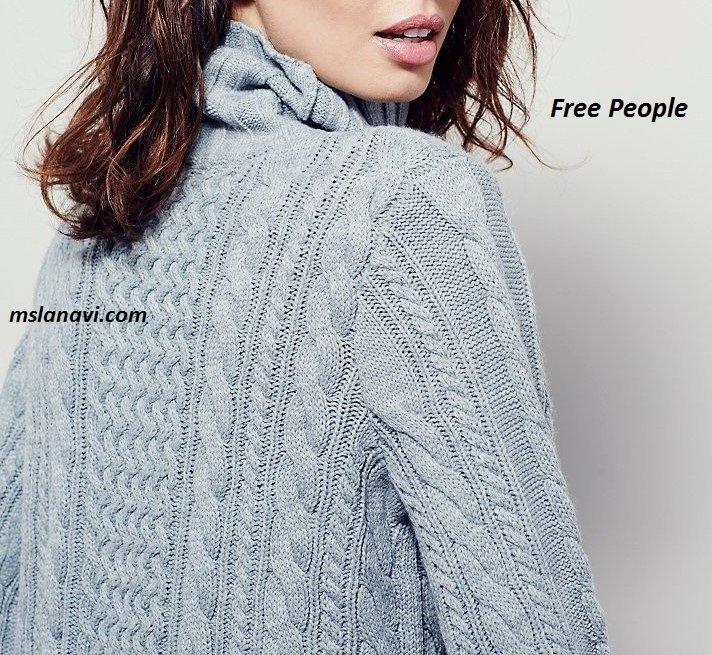Вязаное платье спицами от Free People