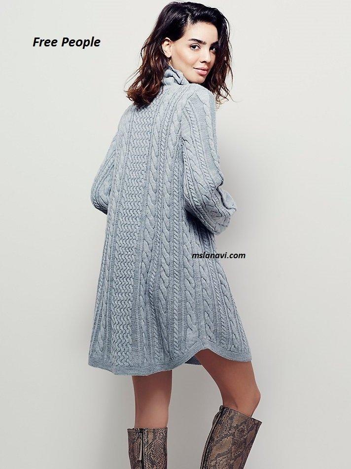 Вязаное платье 2016 фото