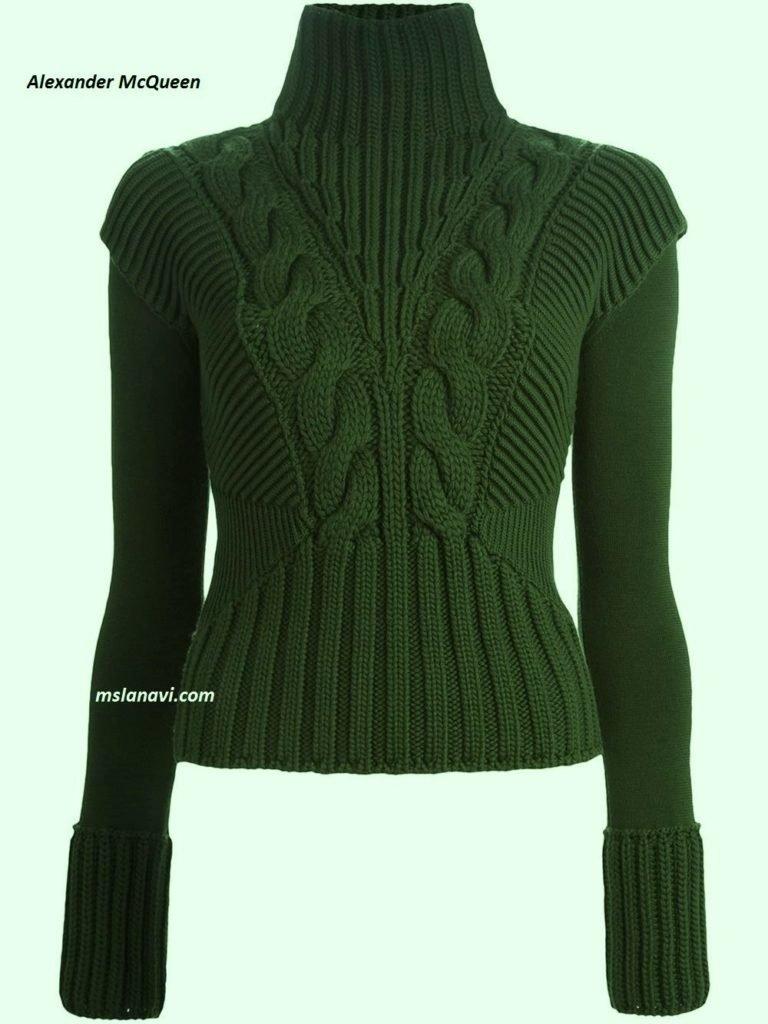 схема вязание спицами женский свитер 38