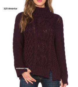 Вязаный свитер с разрезами от 525 America