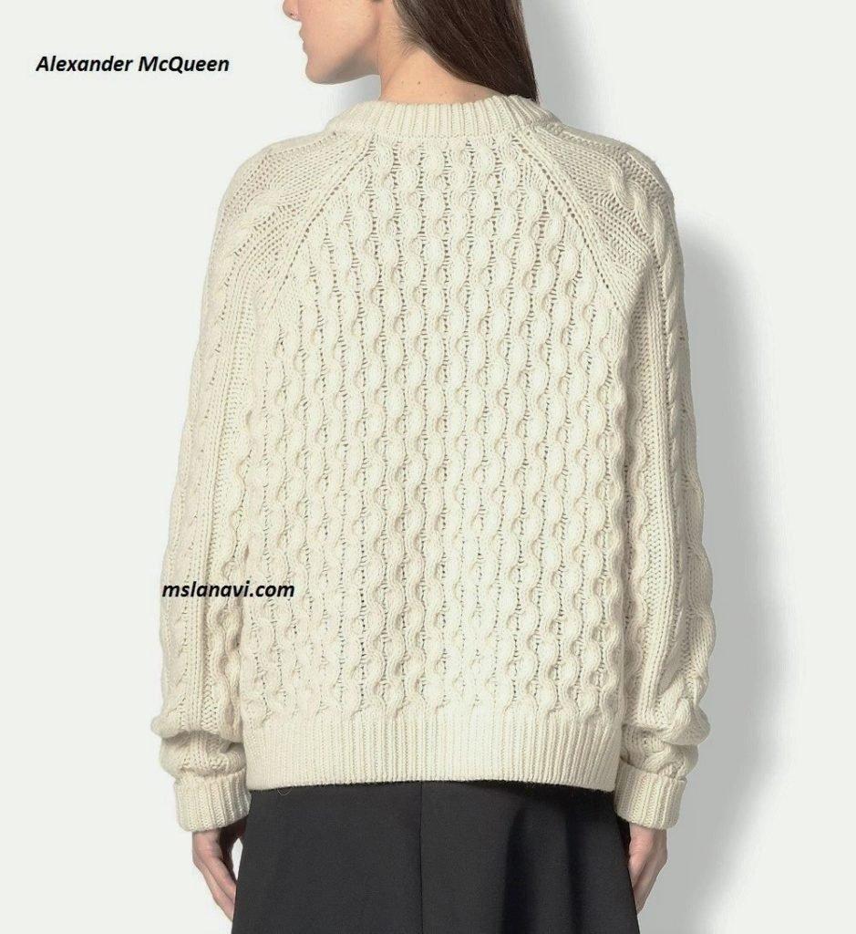 Длинный свитер спицами от ALEXANDER MCQUEEN