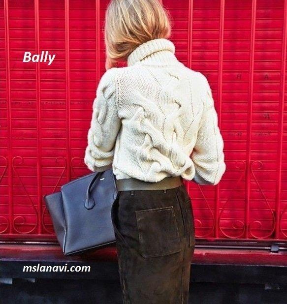 Вязаный свитер с косами Bally