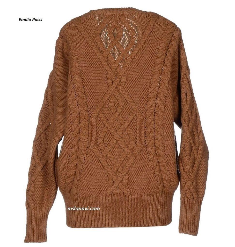 Вязаный свитер спицами от Emilio Pucci