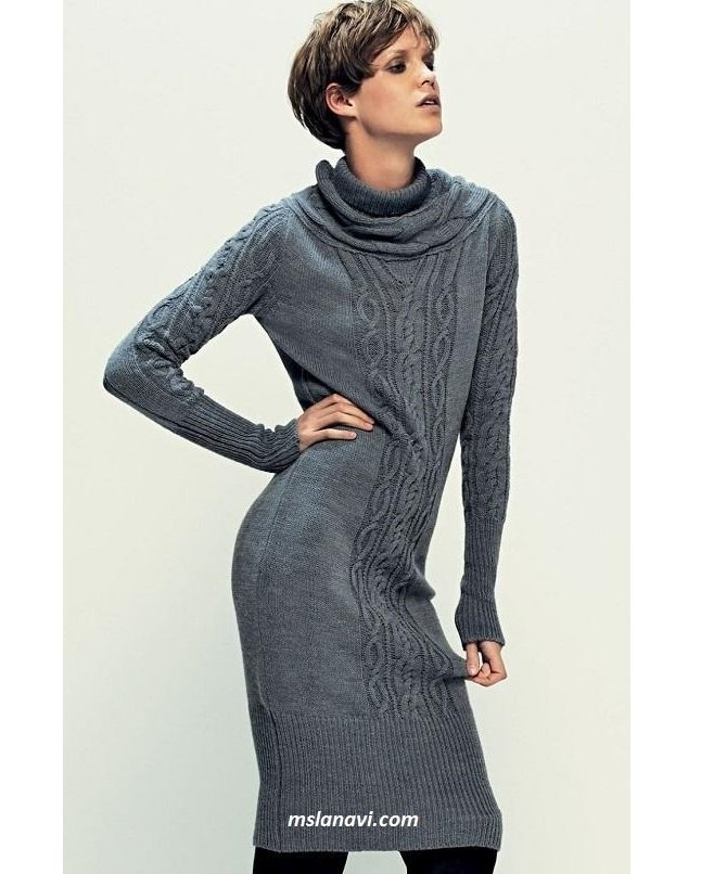 5a357a80545ca0d Теплое платье спицами | Вяжем с Лана Ви