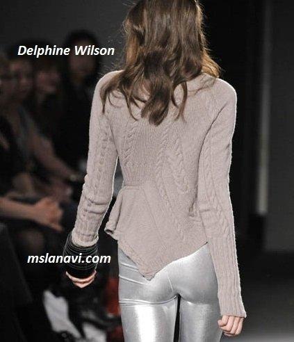 фото вязаных моделей спицами от Delphine Wilson 3