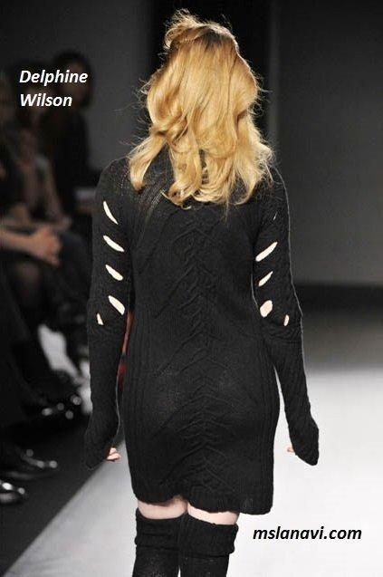 фото вязаных моделей спицами от Delphine Wilson 8
