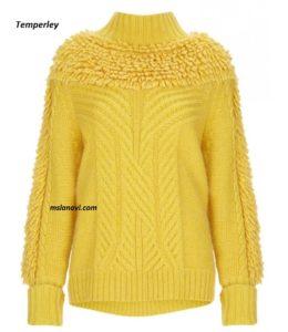 свитер спицами от Temperley