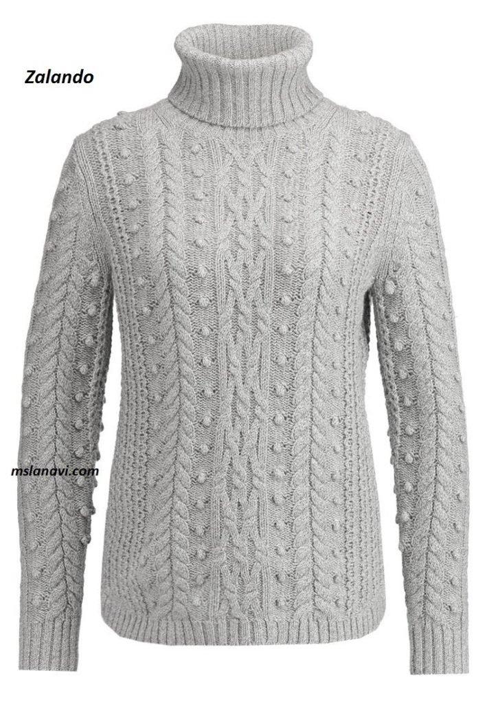 свитер с шишечками из Заландо