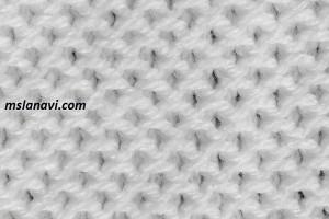 Рельефный узор спицами №122