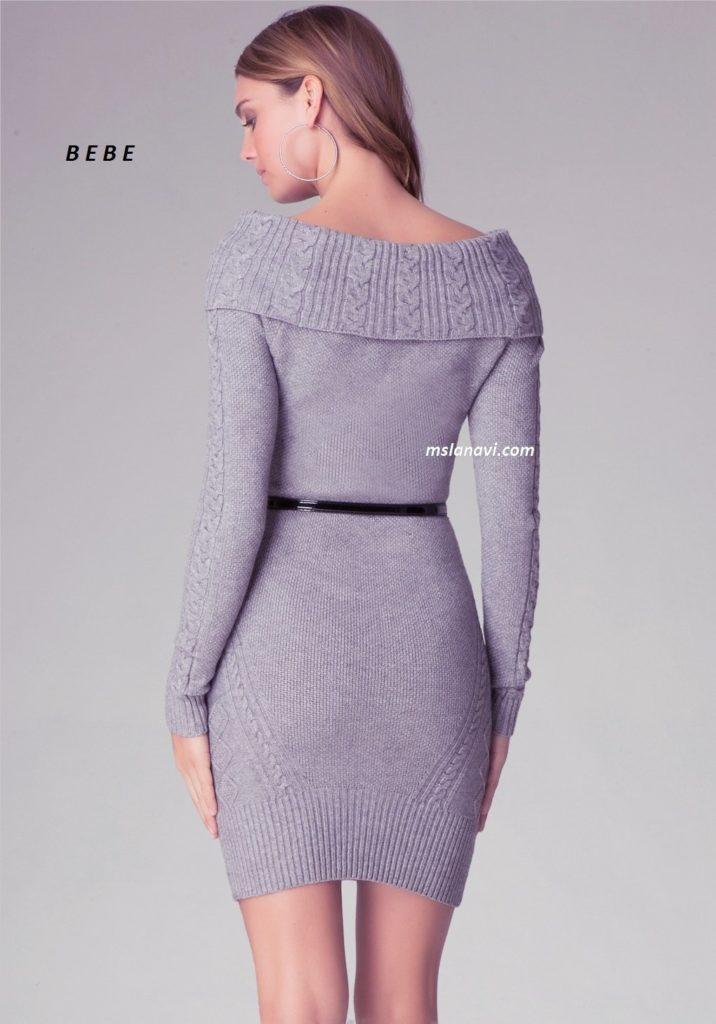 вязаное платье спицами от B E B E