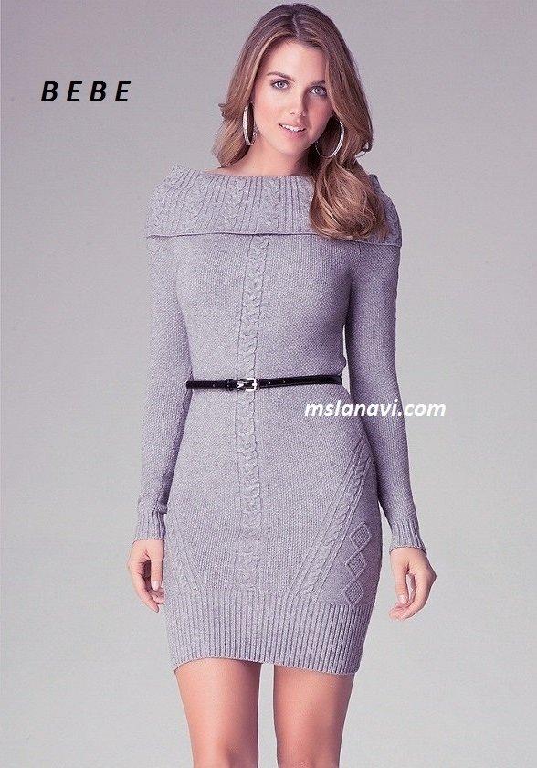 Платья вязаные для женщин
