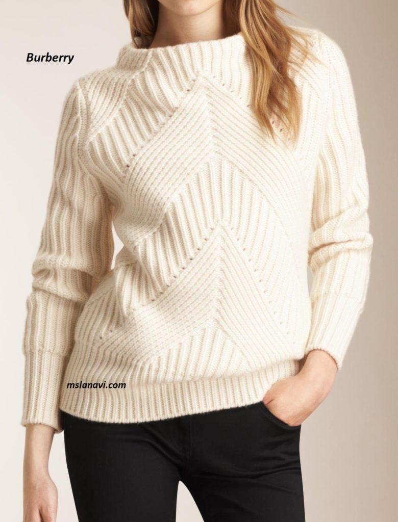 Схемы женских свитеров спицами 2016