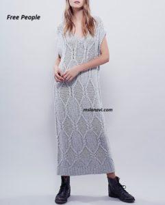Летнее вязаное платье