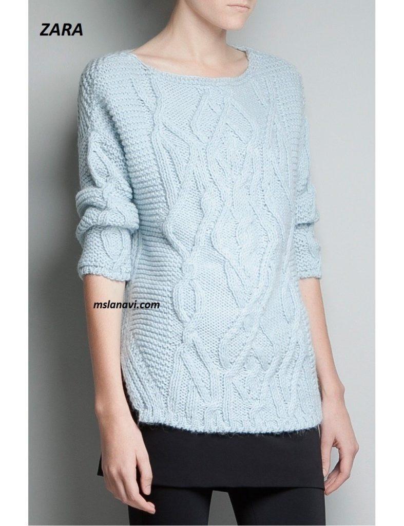 Вязаный пуловер спицами от ZARA