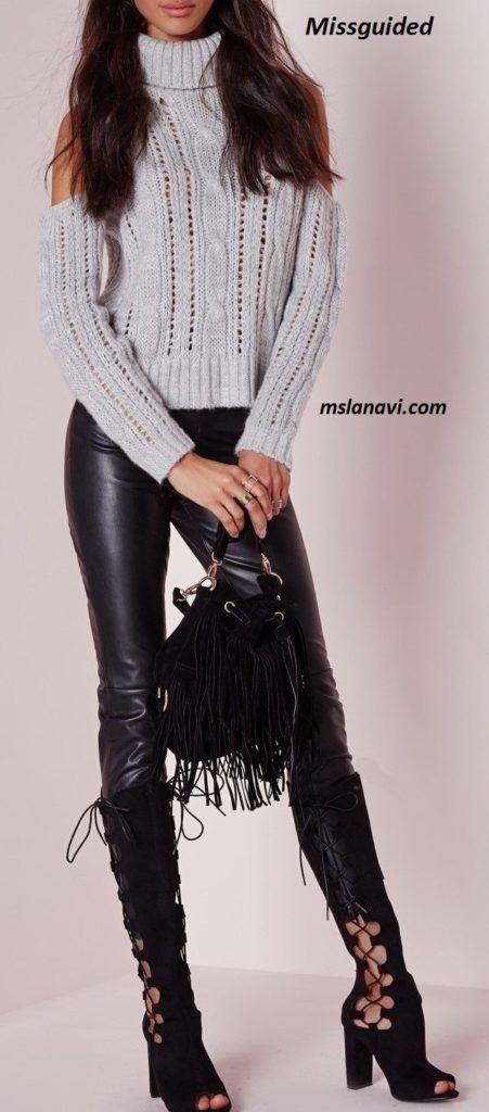Оригинальный пуловер спицами от Missguided
