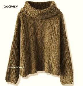 Вязаный свитер оверзайз от CHICWISH