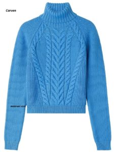 Вязаный свитер спицами от Carven