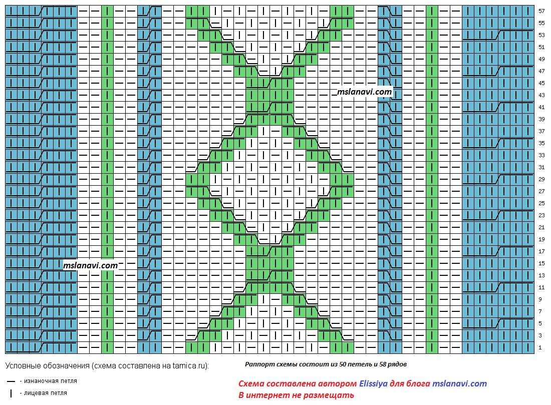 Вязание широкий воротник схема 100