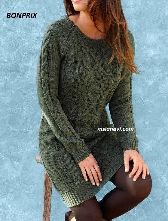 вязаное платье спицами из Bonprix вязание спицами обсуждение на