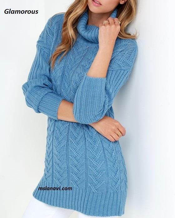 Вязаный пуловер спицами от Glamorous