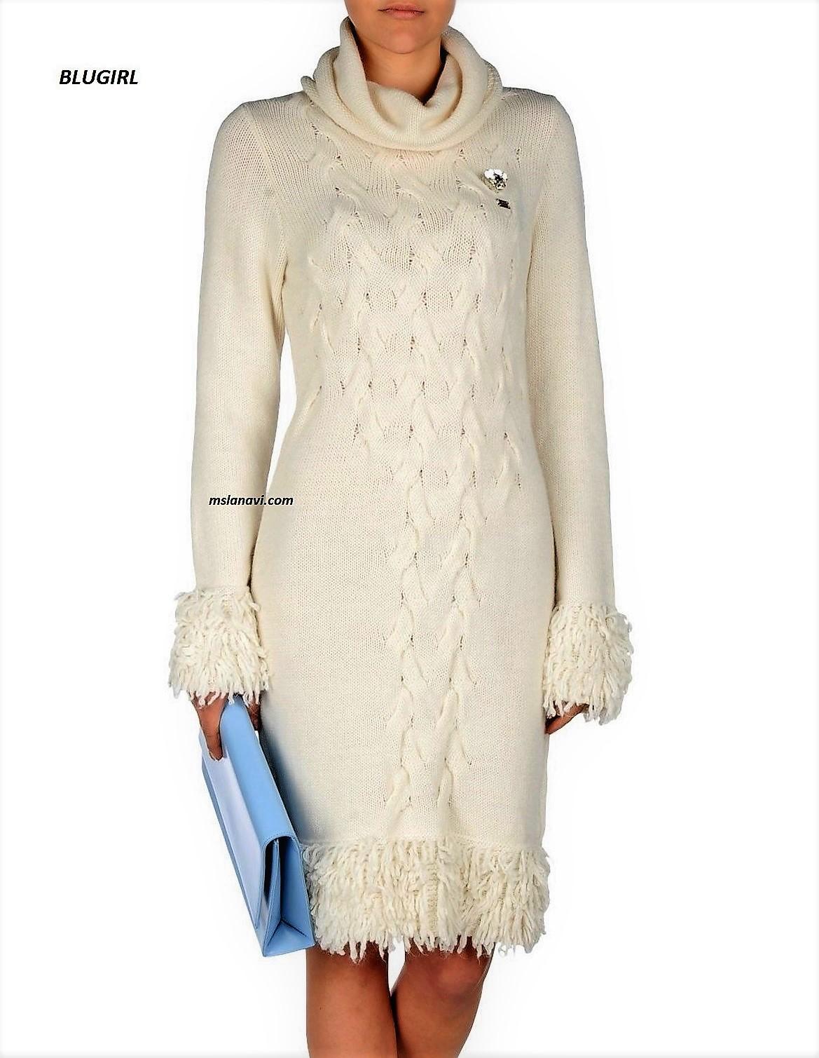 Вязаное платье спицами от BLUGIRL